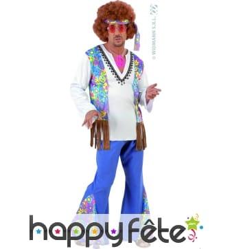Costume d'homme hippie woodstock