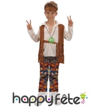 Costume de hippie pour garçon, pantalon à motifs