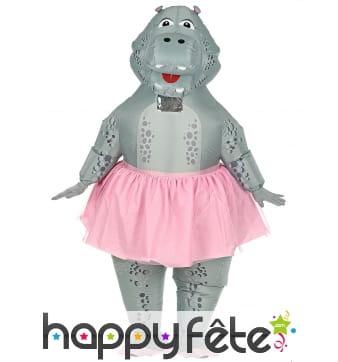Costume de hippo ballerine gonflable pour adulte