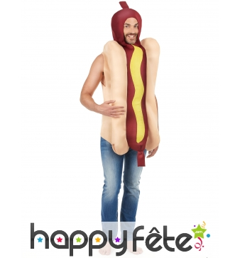 Costume de hot dog saucisse
