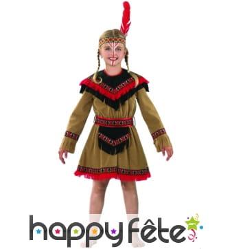 Costume d'indienne enfant Kiowa