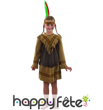 Costume d'indienne enfant Nakota