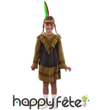 Costume d'indienne enfant Nakota