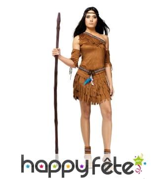 Costume d'indienne marron pour adulte