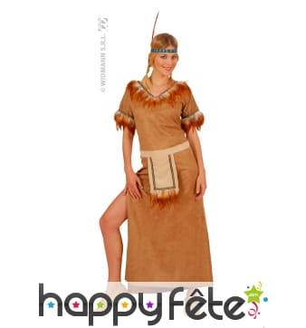 Costume d'indienne suédine