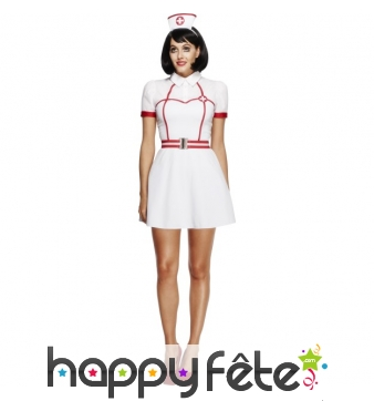 Costume d'infirmière auxiliaire sexy