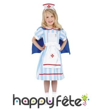 Costume d'infirmière vintage pour petite fille