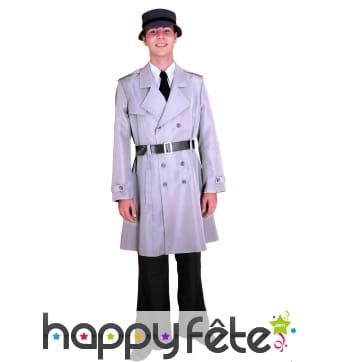 Costume d'inspecteur gris