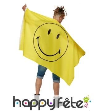 Cape drapeau jaune Smiley