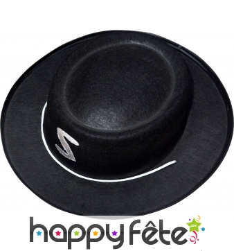 Chapeau de justicier noir T52