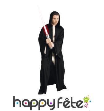 Costume de Jedi noir à capuche