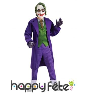 Costume du Joker avec masque pour enfant, luxe
