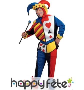 Costume du Joker de jeu de cartes pour adulte