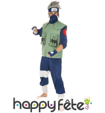 Costume de Kakashi Hatake pour homme, Naruto