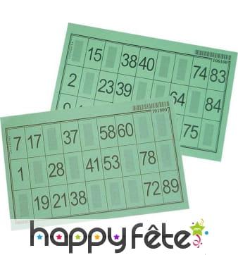 Carton de loto vert épais 1/100 mm