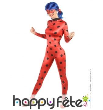 Combinaison de ladybug pour femme avec masque
