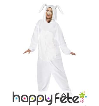 Combinaison de lapin blanc