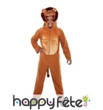 Combinaison de lion pour enfant