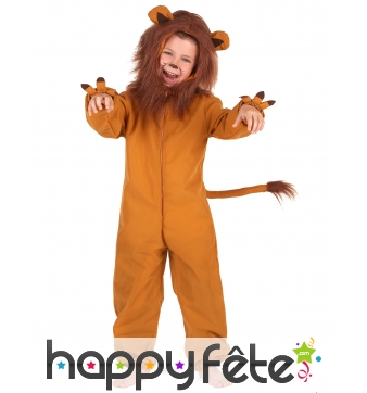 Combinaison de lion roi de la jungle pour enfant