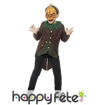 Costume de l'homme citrouille pour enfant