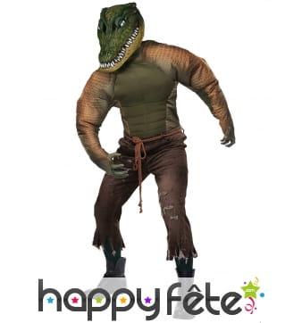 Costume de l'homme crocodile pour adulte
