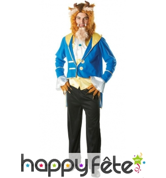 Costume de la bête pour homme, Belle et la bête