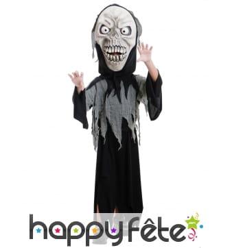 Costume de la mort avec grosse tête pour enfant