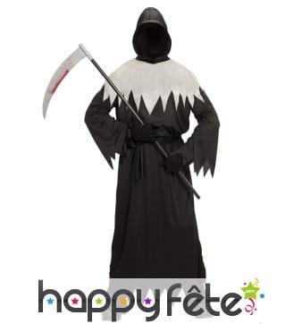 Costume de la mort noir et blanc pour adulte