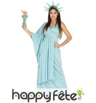 Costume de la statue de la liberté pour femme