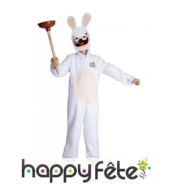 Costume de Lapin Crétins pour enfant avec masque