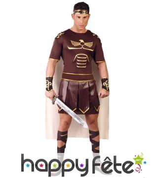 Costume de légionnaire romain marron et or homme