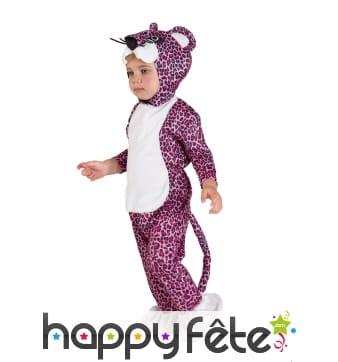 Costume de léopard rose pour bébé