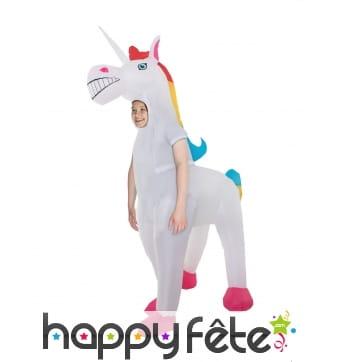 Costume de licorne gonflable géante pour enfant