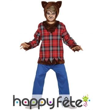 Costume de loup-garou écossais pour enfant