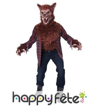Costume de loup garou effrayant pour homme