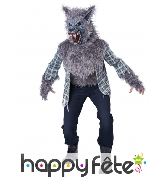 Costume de loup-garou en chemise