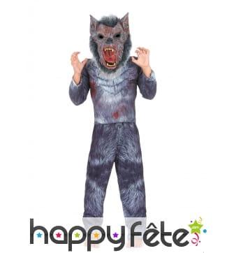 Costume de loup garou rembourré pour enfant
