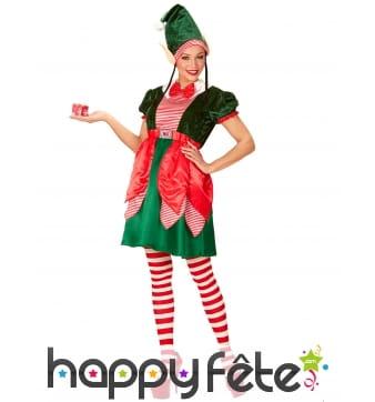 Costume de lutin assistante du Père Noël femme