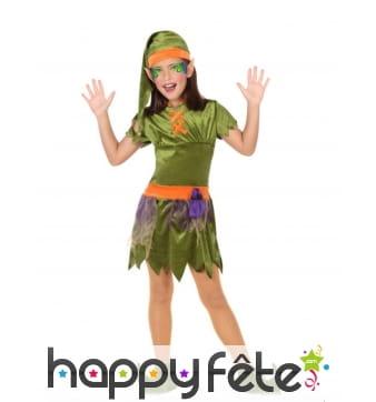 Costume de lutin pour petite fille