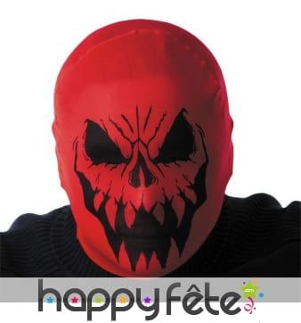 Cagoule de monstre squelette rouge