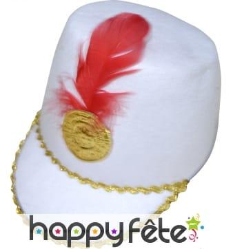 Chapeau de majorette blanc