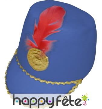 Chapeau de majorette bleu