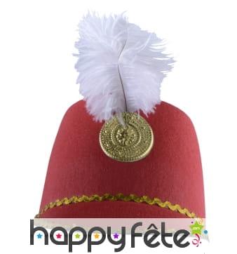 Chapeau de majorette rouge