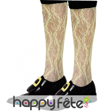 Chaussettes de marquis en dentelles ivoire