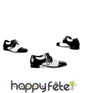 Chaussures de mafieux noires et blanches