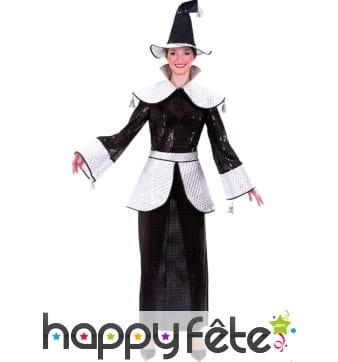 Costume de magicienne à paillettes