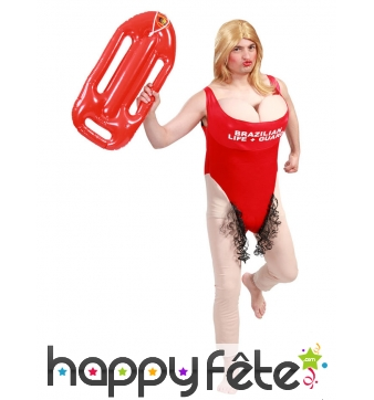 Costume de maître nageur humoristique pour adulte