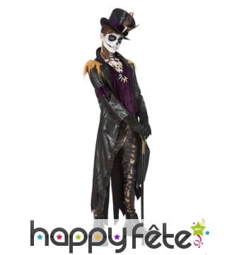 Costume de maître vaudou noir et violet pour homme