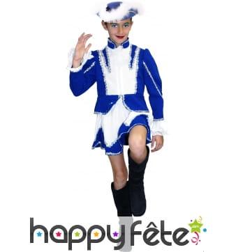 Costume de majorette bleue