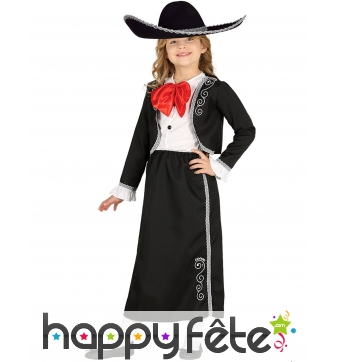 Costume de Mariachi mexicaine pour fille